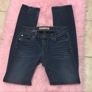 Big Star Kayla Straight Mid Rise Fit Jeans Sz 27L